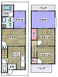 [一戸建] 京都府京都市北区西賀茂北川上町 の賃貸【/】の間取り