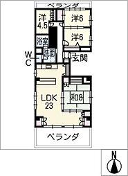 シャトーナカムラ[2階]の間取り