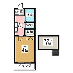 サントノーレ旭ヶ丘[3階]の間取り
