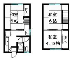 [テラスハウス] 滋賀県大津市和邇高城 の賃貸【/】の間取り