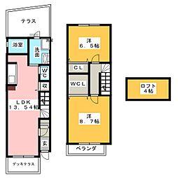 [テラスハウス] 愛知県名古屋市中川区愛知町 の賃貸【/】の間取り