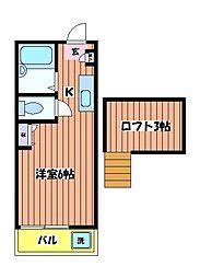 ホワイトハイムL[1階]の間取り