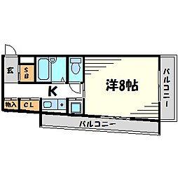 兵庫県尼崎市立花町2丁目の賃貸マンションの間取り