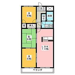 メゾンシャンポール[7階]の間取り