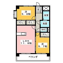Yアルモニー[1階]の間取り