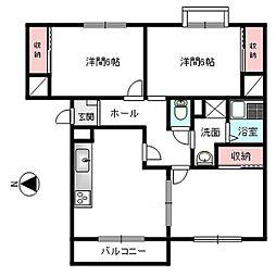 サングレースマンション[304号室]の間取り