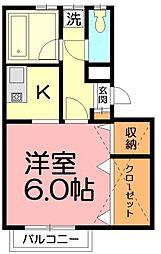 神奈川県藤沢市辻堂元町4丁目の賃貸アパートの間取り