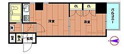ニューライフ本町[2階]の間取り