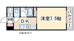 FIVE TWO 3階1DKの間取り