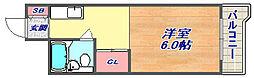 六甲澤山ヴィラ南棟[303号室]の間取り