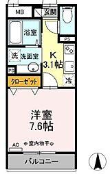 都営三田線 西巣鴨駅 徒歩9分の賃貸アパート 3階1Kの間取り