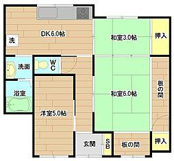 [一戸建] 大阪府高槻市芥川町4丁目 の賃貸【/】の間取り