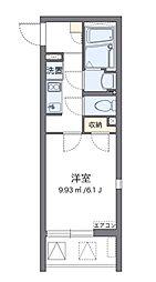 小田急江ノ島線 大和駅 徒歩5分の賃貸マンション 3階1Kの間取り