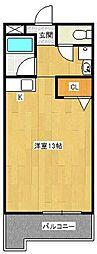 サンケイマンション第8ビル[301号室]の間取り