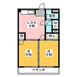 松野マンション[3階]の間取り