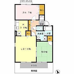 ラ・フォーレ C棟[1階]の間取り