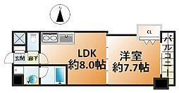 パレ阪栄橋[8階]の間取り