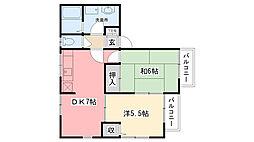 リプユール甲子園[203号室]の間取り