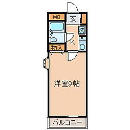 エクレール南町田[206号室]の間取り