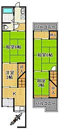 [テラスハウス] 大阪府大阪市平野区平野本町2丁目 の賃貸【/】の間取り