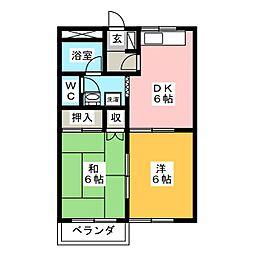 三本木ハイム[2階]の間取り