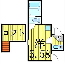 アルゴ西新井[301号室]の間取り