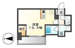 ハーモニーレジデンス名古屋新栄[13階]の間取り