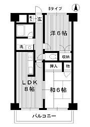 東京都練馬区高松の賃貸マンションの間取り