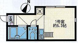 グレースヒルズ横浜西[101号室]の間取り