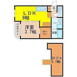 南区桜本町2丁目デザイナーズ[1階]の間取り