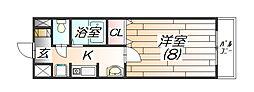 エスポワール広野[3階]の間取り