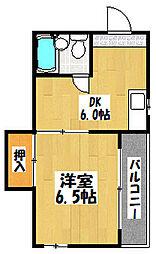 大阪府大阪市鶴見区諸口5丁目の賃貸マンションの間取り