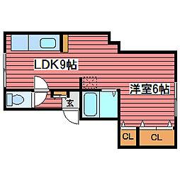 コーポ第3芦山ハイツ[3階]の間取り