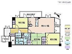3LDK・専有面積67.53平米・バルコニー面積5.88平米