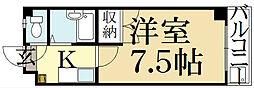 レジデンス丸高[5階]の間取り