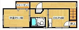 福寿荘[2F号室]の間取り