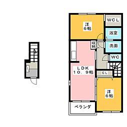 パストラーレA[2階]の間取り