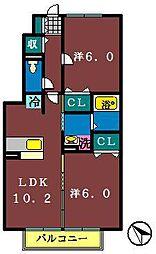 フェリオ1・2[1-102号室]の間取り