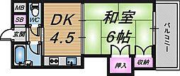 グレイスフル中崎1[9階]の間取り