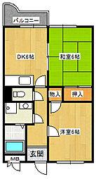 ローレルコート伊丹[103号室]の間取り