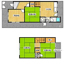 [一戸建] 大阪府堺市西区浜寺元町5丁 の賃貸【/】の間取り