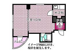 鷹野橋プリンスマンション[205号室]の間取り