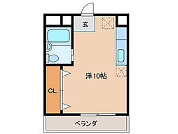 宮町OZビル[4階]の間取り