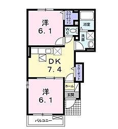 カ−サ フェリ−チェ[1階]の間取り