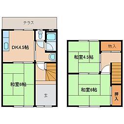 [一戸建] 奈良県奈良市神殿町 の賃貸【/】の間取り