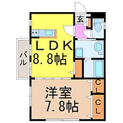 愛知県名古屋市千種区青柳町7丁目の賃貸マンションの間取り