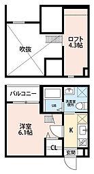 リッチモンド (リッチモンド)[2階]の間取り