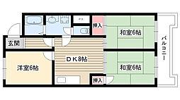 リバーサイドマンション[105号室]の間取り