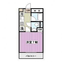 ベルヴィル茅ヶ崎[6階]の間取り