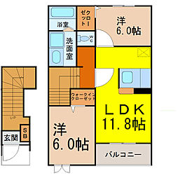 サニーレジデンスI(サニーレジデンスワン)[2階]の間取り